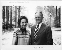 Photograph of Dr. John R. Bertrand and Annabel Bertrand outside, Mount Berry,...