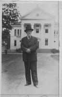 Photograph of Captain John Barnwell in front of the Hoge Building, Mount Berry,...