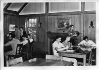 Photograph of Berry Academy students studying in the Barstow Memorial Library,...